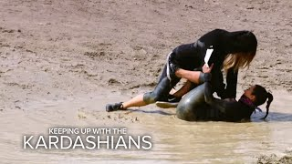 KUWTK | Khloé Tackles Kim on a Mud Run | E!