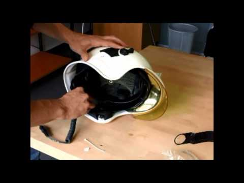 HC1 in Gallet F1S helmet installation part 3