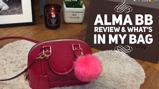LV Alma BB Vernis Review // What's in my bag // Mod shot