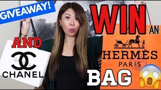 I'M GIVING AWAY AN HERMES BAG & A RARE CHANEL SLG! 😱 100K GIVEAWAY!!! 🎉
