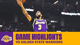 HIGHLIGHTS | Anthony Davis (23 pts, 6 reb, 2 blk, 2 stl) vs. Golden State Warriors