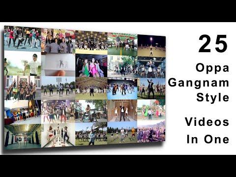 25 Gangnam Style Videos in One!
