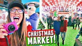 TORONTO CHRISTMAS MARKET! Shopping, Decorations & Apple Cider | Vlogmas Day 6