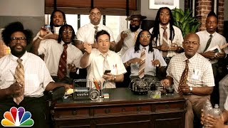 """Jimmy Fallon, Migos & The Roots Sing """"Bad and Boujee"""""""