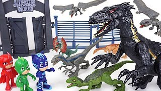 Jurassic World 2 Fallen Kingdom's dinosaur Indoraptor appeared! PJ Masks! Transform! - DuDuPopTOY