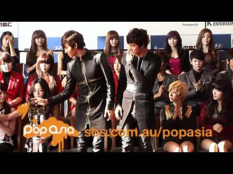 Press conference - 2011 K-Pop Music Fest. in Sydney