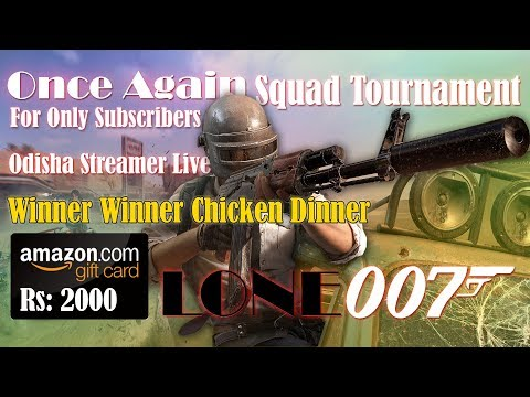 PUBG Mobile Live | Squad Tournament | Win Amazon Voucher Worth Rs:2000
