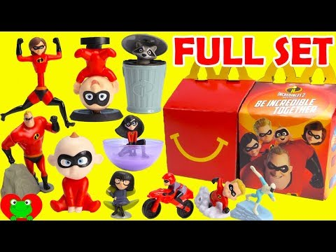 2018 The Incredibles 2 McDonald's Happy Meal Toys Full Set ...