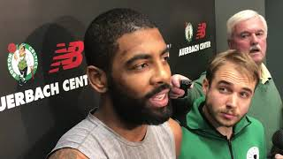 """Kyrie Irving on Terry Rozier: """"I'm a big fan"""""""