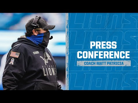 Detroit Lions at Carolina Panthers | 2020 Week 11 Matt Patricia postgame press conference