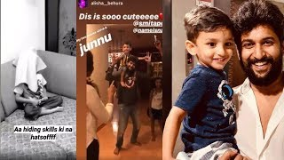 Actor Nani shares fun time video with family..