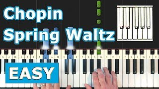 Chopin - Spring Waltz (Mariage d'Amour) - Piano Tutorial Easy - (Synthesia)