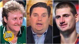 Brian Windhorst can't believe Gregg Popovich compared Nikola Jokic to Larry Bird | The Jump