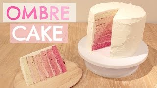 How To Make an Ombre Cake | ThoseRosieDays