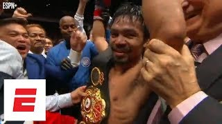 All the hype around Manny Pacquiao's return to the ring for TKO win vs. Lucas Matthysse   ESPN