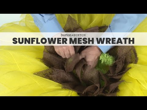 How To Make A Sunflower Mesh Wreath Youtube