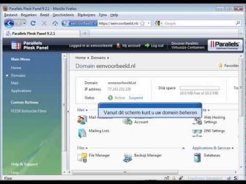 Inloggen Plesk 9 - Firefox