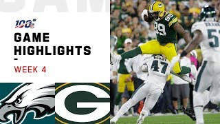 Eagles vs. Packers Week 4 Highlights | NFL 2019