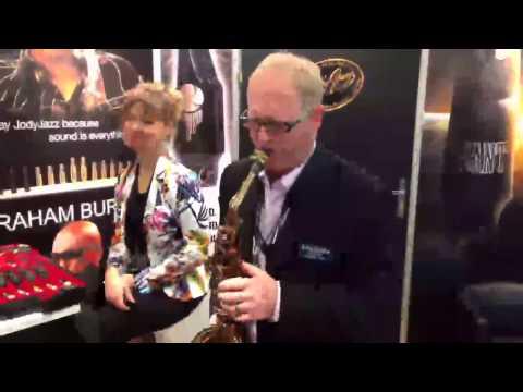 JodyJazz Jet mouthpiece introduced by Jody Espina @ MusikMesse 2014