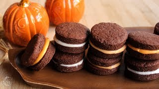 Chocolate Sandwich Cookies With Cream Filling Recipe | The Sweetest Journey