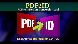Edit PDF content in InDesign CC 2018, PDF to InDesign CC