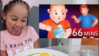 Cali's Yummy Breakfast with Johny Johny Yes Papa Song Nursery Rhymes