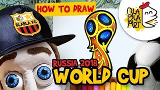 HOW TO DRAW RUSSIA WORLD CUP 2018 LOGO | Fifa World Cup 2018 Football Drawing for Kids | Blabla Art