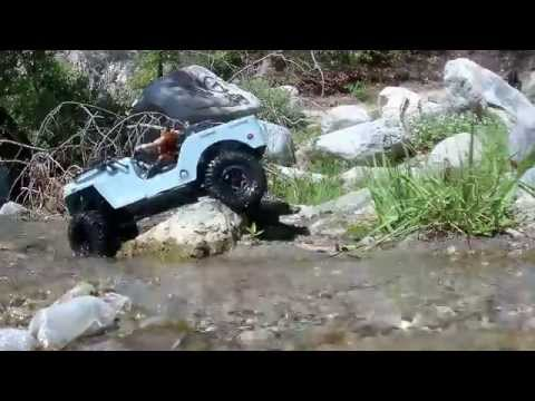 Scale RC Rock Crawling ''CJ-3A FIRST RUN'' Sawback Body Scx10 Chassis