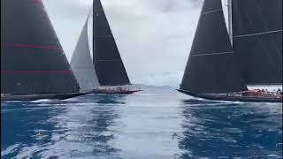 J Class Crash -- Superyachts Challenge Antigua
