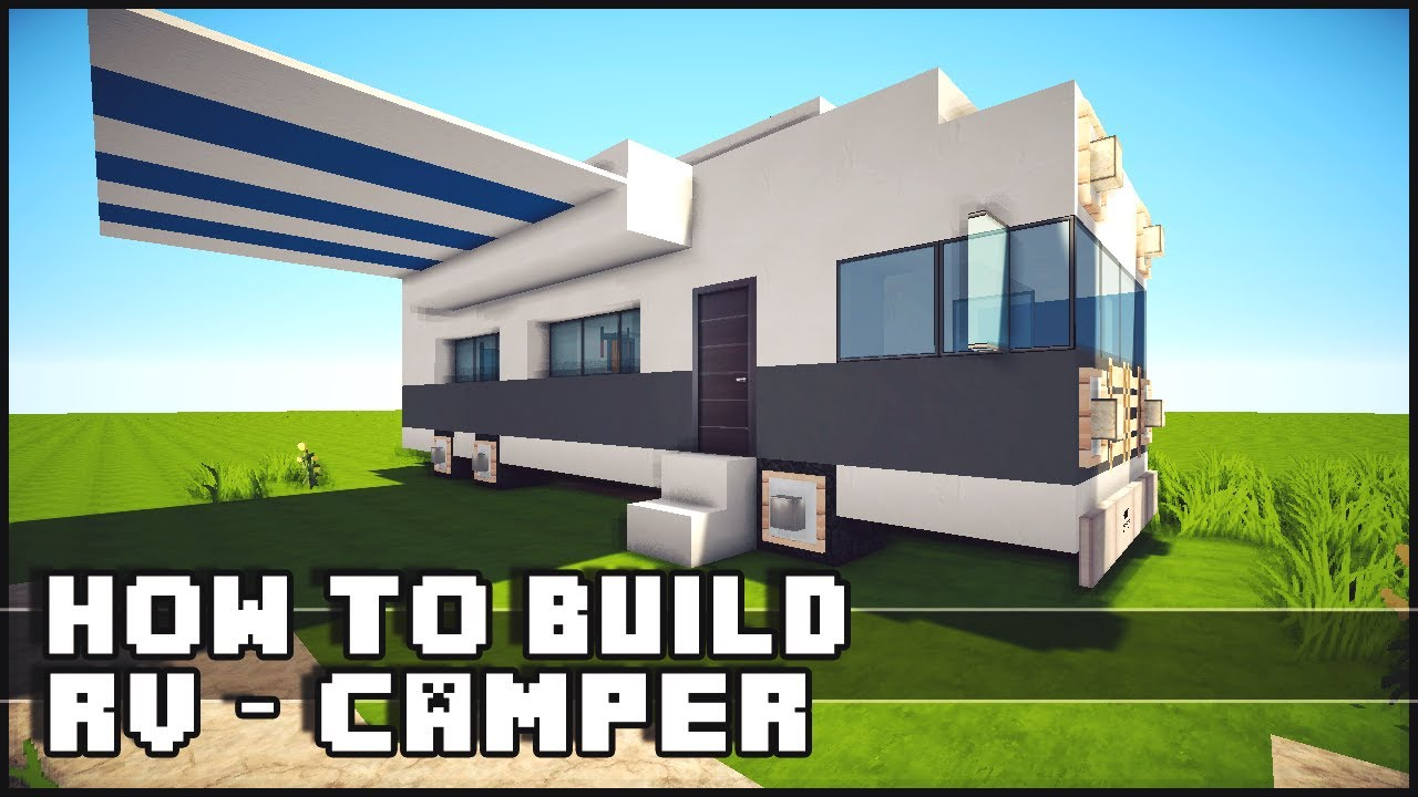 Minecraft Vehicle Tutorial - How to Build : RV / Camper ...