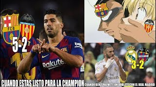 MEMES BARCELONA VS VALENCIA 5-2 | GOL DE ANSU FATI | DOBLETE DE SUÁREZ | REAL MADRID VS LEVANTE 3-2