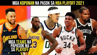 NBA TEAMS na pasok na sa PLAYOFF 2021! NBA playoff teams prediction | NAG-UUNAHAN na sila