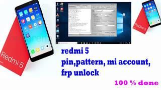 Redmi 5 mdi1 mi account remove by miracle / mi 5 mi account