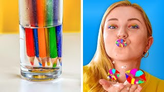 HOW TO SNEAK COSMETICS IN CLASS || Funny School Supply Projects by 123 GO! GOLD