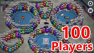 AMONG US, but with 100 PLAYERS
