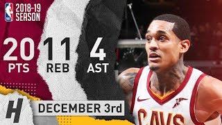 Jordan Clarkson Full Highlights Cavaliers vs Nets 2018.12.03 - 20 Pts, 4 Ast, 11 Rebounds!