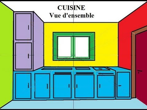 dessiner en perspective 12 20 une cuisine en 3d pas. Black Bedroom Furniture Sets. Home Design Ideas