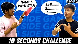 ANSWER IN 10 SECOND CHALLENGE || FUNNIEST CHALLENGE BY TWO SIDE GAMERS - Vlog 24