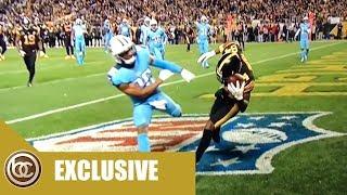 Antonio Brown makes insane helmet catch on Thursday Night Football