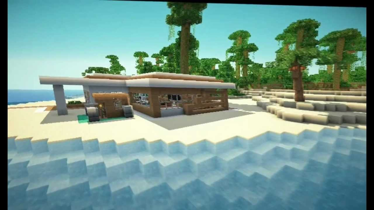 Minecraft Modern Beach House - YouTube