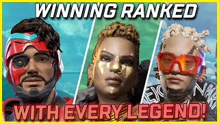 Winning With Every Legend In Ranked Challenge - Apex Legends Season 9 (Part 2)