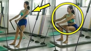 Janhvi Kapoor's AMAZING Workout At Her Gym..