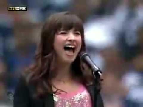 Baixar Demi Lovato - American National Anthem LIVE - Cowboys vs. Seahawks '08 (HD/HQ)