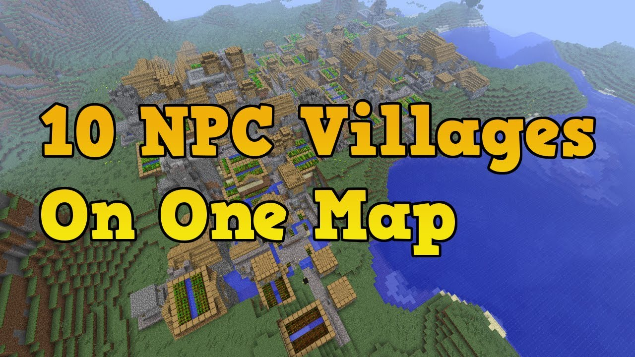 Minecraft Xbox 360 Seeds - 10 NPC Villages (5 Black Smith ...