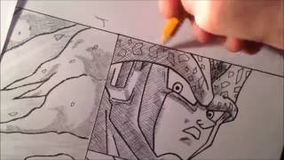 Gohan Super Saiyan 2 transformation Speed Drawing