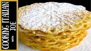 How to Make Italian Waffles Pizzelle Cooking Italian with Joe