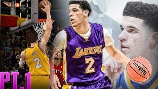FIRST LOOK AT LONZO BALL AS A LAKER! NBA 2K12 CREATE A LEGEND PT 1