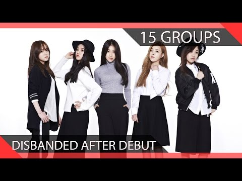 15 KPOP Groups Who Disbanded After Debuting