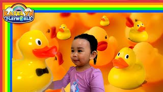 Five Little Ducks in bathtub | kids bath toys Nursery Rhymes for kids