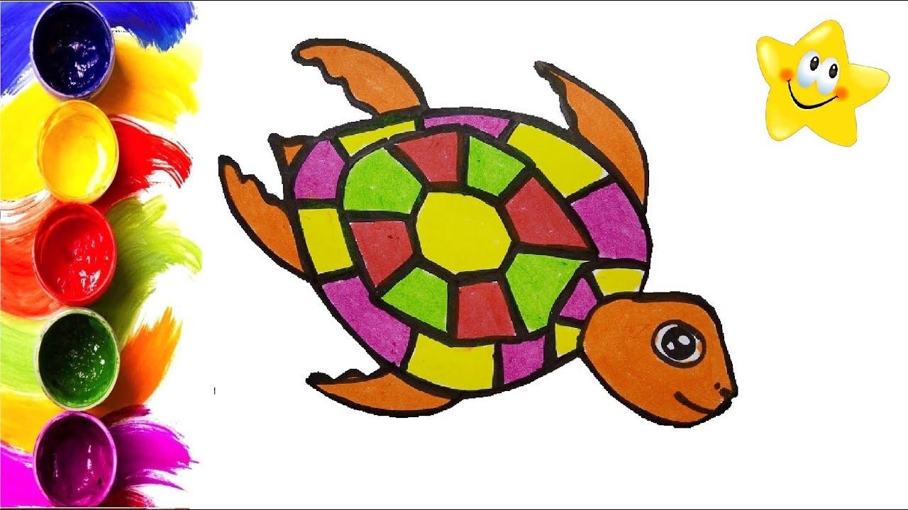 как раскрасить черепаху